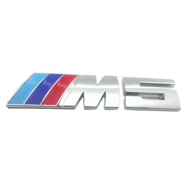 m tech power m chrome m5 logo emblem badge sticker fit. Black Bedroom Furniture Sets. Home Design Ideas