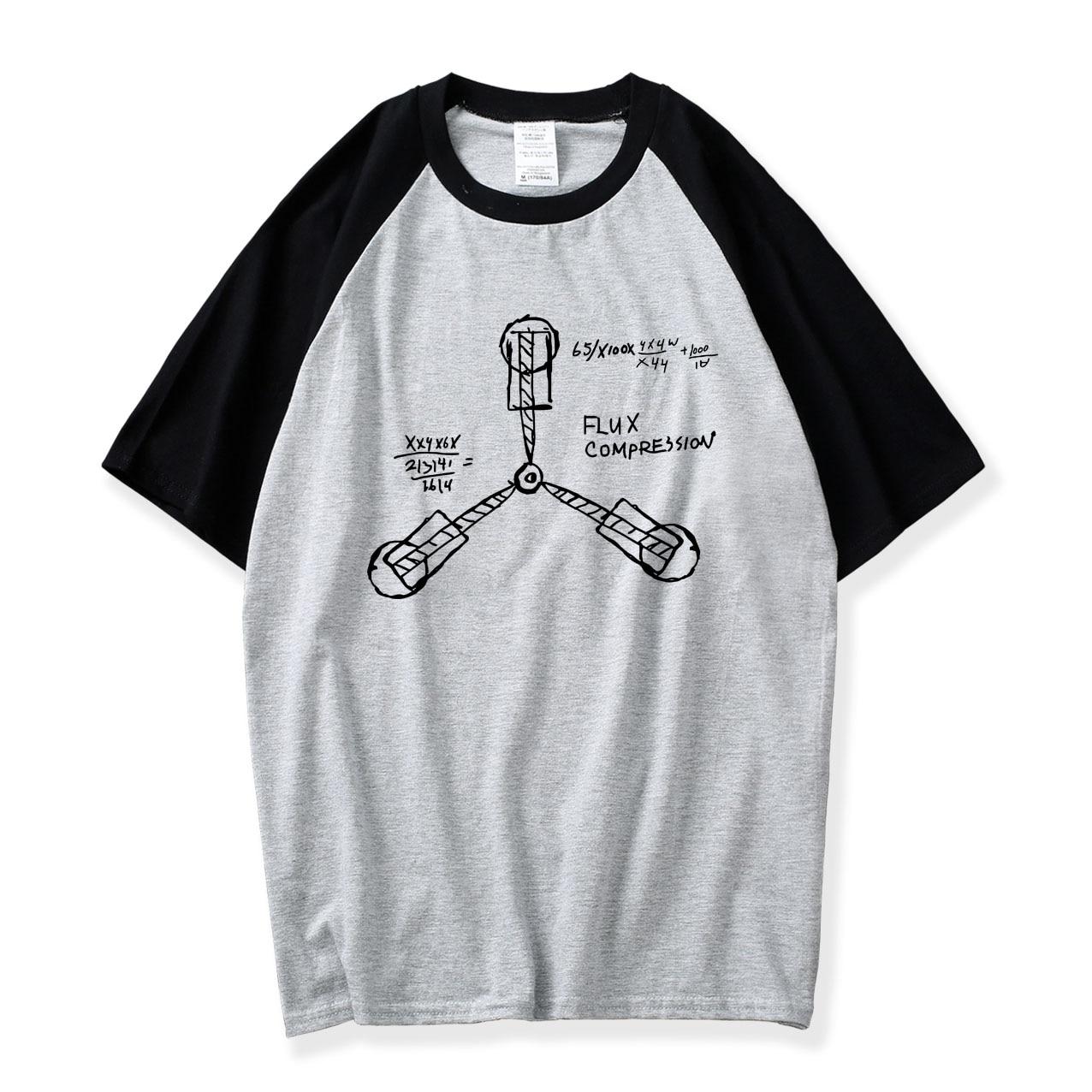 Raglan Sleeve T-shirt Preppy Style Men T Shirt Back to the Future Mens T Shirts Cotton Camisetas O Neck Casual Bodybuilding