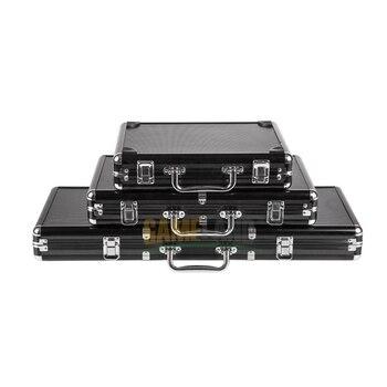 Malette poker en Aluminium/PU/ABS Haute Qualité avec 300/500 jetons 1