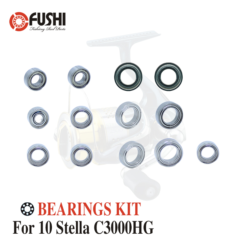 Fishing Reel Stainless Steel Ball Bearings Kit For Shimano 10 Stella <font><b>C3000HG</b></font> C3000S / 02434 02790 Spinning reels Bearing Kits image