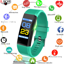 LIGE New Fitness bracelet Smart Watch Men Women Heart Rate Monitor Blood Pressure Tracker Sport Wristband