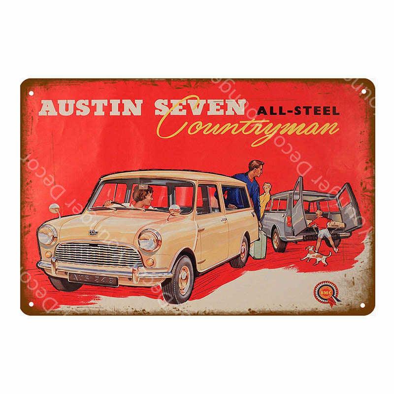 Amerykański's Highway Route 66 samochód metalowe tabliczki Mini Parking tylko Decor Champion silnik wyścig Metal plakat Pub Bar w stylu Vintage płyta żeliwna