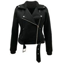 Sisjuly Autumn 2019 Gothic High Street Casual Women Jacket Casual Black Slim Plain Zipper Plus Size Overcoat Female Cool coat все цены