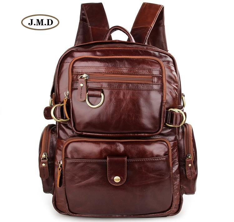 J.M.D 100% Guarantee Genuine Leather Multifunctional Design Fashion Rucksack Schoolbag Causal Travel Bag Backpack 7042C недорго, оригинальная цена
