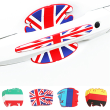8PCS Car Stickers Door Handle Protector Strip Silicone Film Scratch-Proof Anti-collision Bumper Decorative Styling