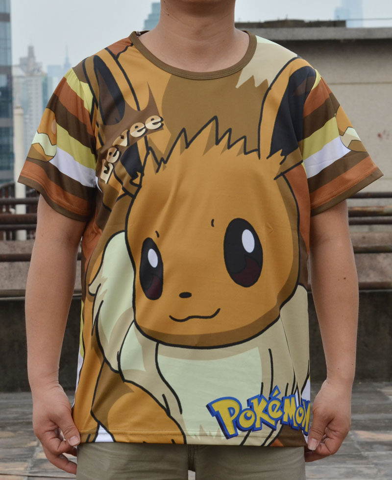 d390814e new amime Pokemon Pikachu T-shirt Man&Woman Tee Cosplay Short Sleeve T-shirt  3 size gift
