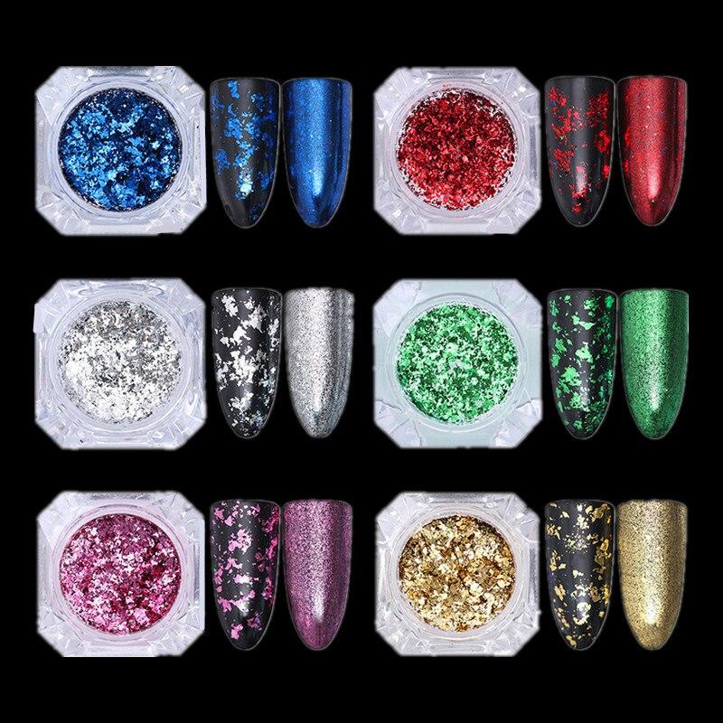 Irregular Gold/Silver Mirror Nail Glitter Powder
