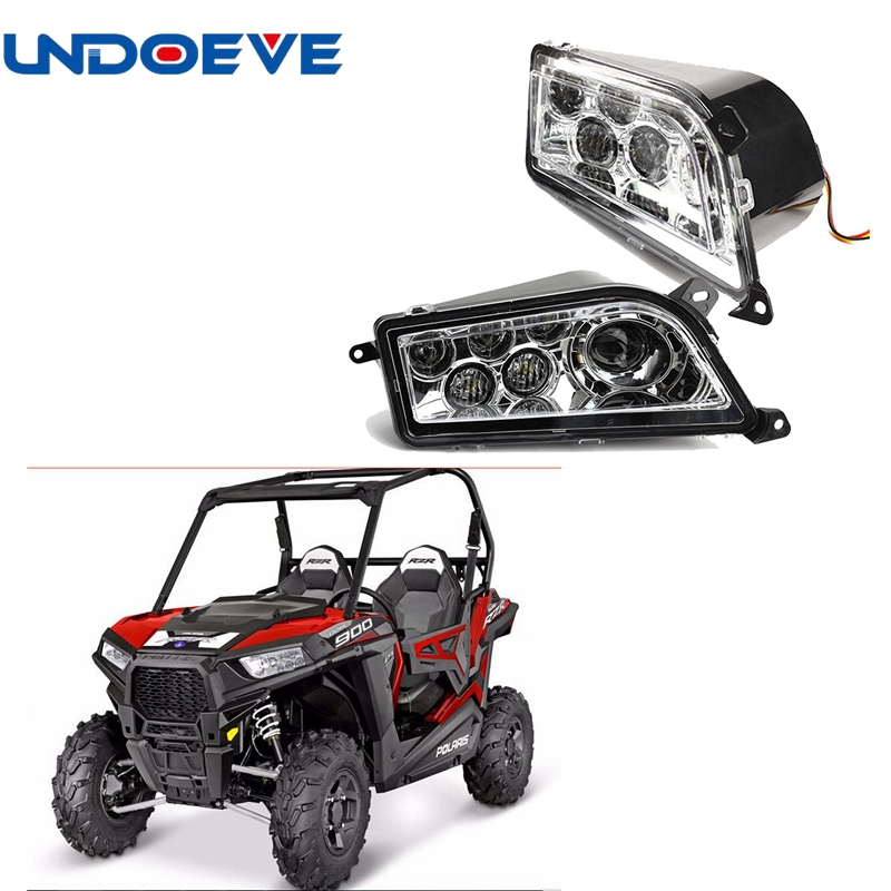 Undoeve Left and Right LED Headlight Kit for UTV 14 15 Polaris RZR 4 XP 1000 RZR RZR 900