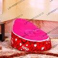 Tampa do saco de feijão bebê com 2 pcs rosa para cima da tampa do saco de feijão cama de bebê cama de bebê padrão sacos de feijão saco de feijão móveis FRETE GRÁTIS