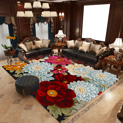 Traditional Chinese Style Living Room 6mm Carpet Bedroom Mat Computer Chair Hanging Basket Rug Blanket Pad for Yoga Washable