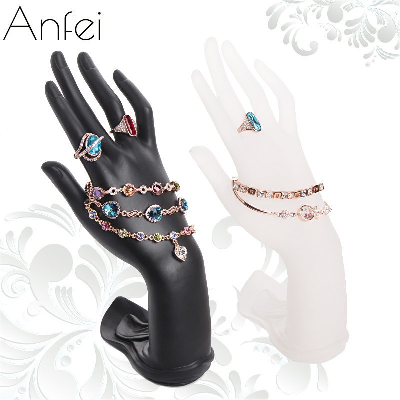 Hand display shelf ring holder bracelet shows rack fashion bangle frame stand for fashion jewelry necklace resin hands hold A132