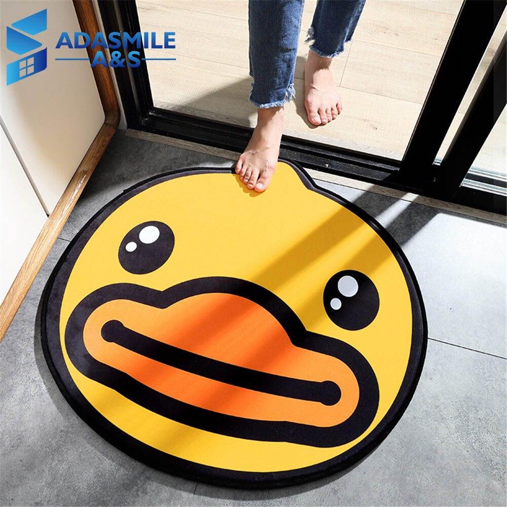 Bande dessinée grand canard jaune enfants chambre zone tapis enfants irréguliers jouer siège tapis Super doux rebond flanelle salon tapis