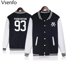 Vsenfo Kpop Monsta X Hoodie Women Men Casual Fleece Autumn Winter Base