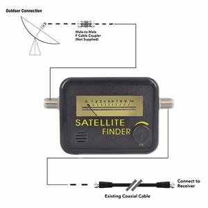 Image 5 - Satellite Finder Finden Ausrichtung Signal Meter FTA DIREC TV Satellite Rezeptor für Sat Dish TV LNB Direc Digital TV