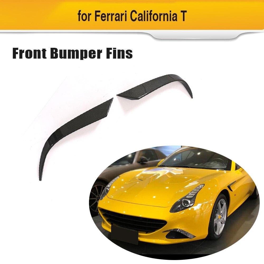 Pour Ferrari California 2015-2018 T Style pare-chocs avant ailettes en Fiber de carbone pare-chocs protecteurs de couverture