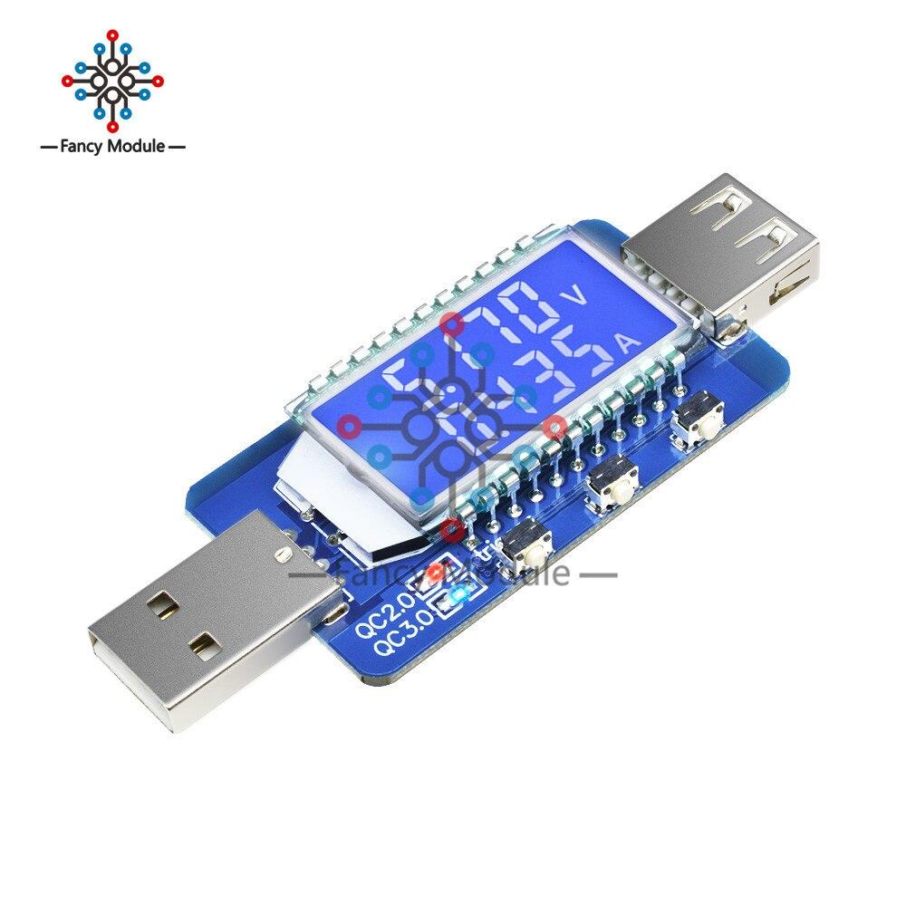 QC2.0 QC3.0 4V-28V Electrical Scam Power Trigger LCD Digital USB Detector Tester Voltage Current Meter Tester Voltmeter Ammeter