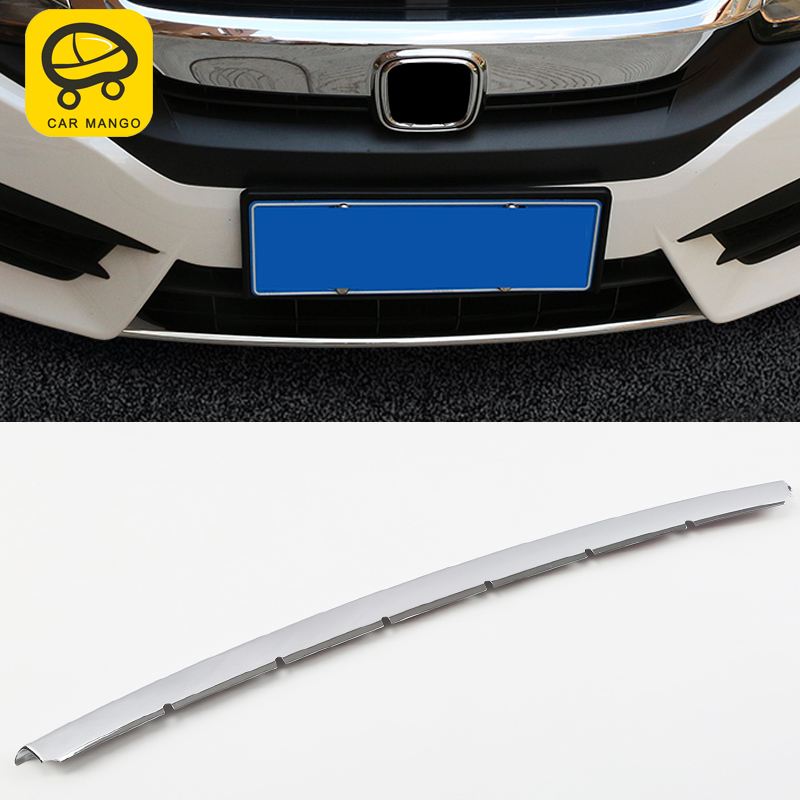 Car Man Go For honda civic 10th 2016 2018 Auto Car styling front bumper trim cover sticker Exterior Accessories-in Car Stickers from Automobiles & Motorcycles    1