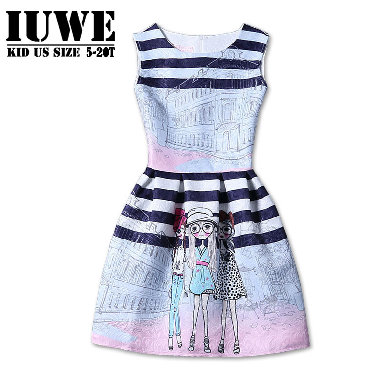 7ea179f3a Chicas Vestido de Verano 2016 Niños Vestidos Para Niñas De 12 años Sin  Mangas Impreso Tamaño Grande Princesa Vestido de Las Niñas Adolescentes Ropa  16