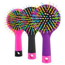 Hair Comb Professional Rainbow Comb Rainbow Volume Anti-static Magic Hair Curl Straight Massage Comb Brush Mirror Styling Tools