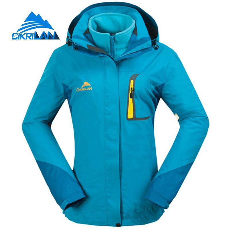Outdoor Winter Jacket Women Camping Hiking Coat Windbreaker Waterproof Jaqueta Feminina Fleece Lining Trekking Chaquetas Mujer new mens 3in1 outdoor fleece lining hooded waterproof winter jacket men windbreaker coat ski hiking camping jaqueta masculina