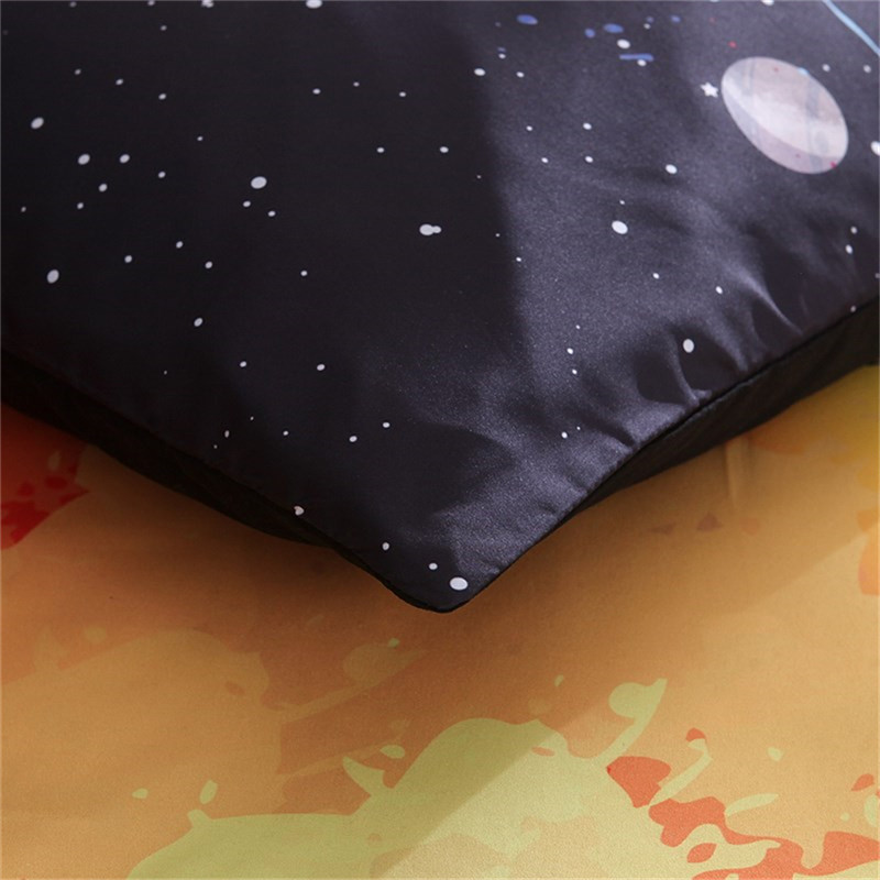 Image 4 - LOVINSUNSHINE Universe Outer Space colorful Galaxy Bedding Set New Design 2pcs/3pcs Duvet Cover with Pillowcase King Queen Size-in Duvet Cover from Home & Garden