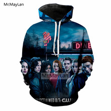 American TV Riverdale 3D Print Hoodie Men/Women Hiphop Streetwear Jacket Boys Hipster Fashion Tops Outfits Clothing Harajuku 5XL