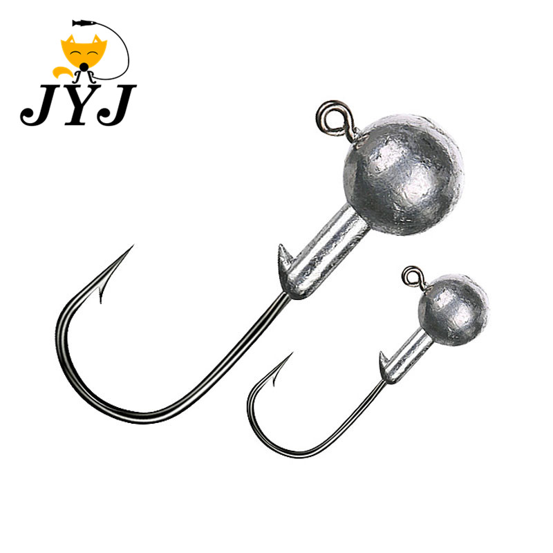 5pcs 1.5g-20g Jig Head lead head hook soft worm hooks Red softbait hook lead weight fishing natural hooks fishing lure kit soft worm bait jig head worm hook weight lead sinker single tail grub 31 pieces suit for texas rig
