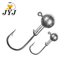 1g 2g 3g 4g 5g 10g 20g 22g 25g 28g crank Jig head hook fishing hook lead head Jig lure hard bait soft worm jig hook for fishing(China)