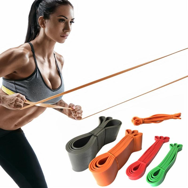 Nature Latex Resistance Band Pull Up Rubber Expander Crossfit Muscle Power Training Loop Gym Yoga Workout
