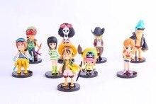5-10cm One Piece 9pcs all set Action Figures Anime PVC brinquedos Collection Figures toys