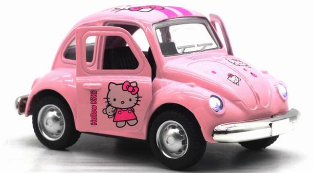 Hot Sale New Kids Toys 143 Mini Alloy Car Cute KT Cat Bus Model