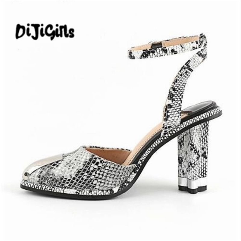 DIJIGIRLS recommend sheep skin summer women pumps patterns leather mixed color metal high heels pointed toe shallow shoes