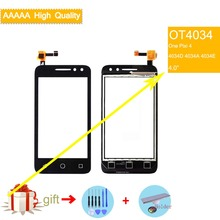 For Alcatel One Pixi 4 OT4034 4034D 4034A 4034E 4034 Touch Screen Touch Panel Sensor Digitizer Front Glass Touchscreen NO LCD цена