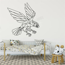 цена Wall Decoration Birds Animal Room Sticker Eagle Geometric Poster Vinyl Art Removeable Mural Modern Fashion Ornament LY352 онлайн в 2017 году