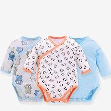 Baby Bodysuit Overalls Long-Sleeves Children Cotton