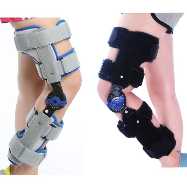 Adjustable Sports Knee Brace Support Orthopedic Hinged Splint Stabilizer Wrap Sprain Post-Op Hemiplegia Flexion Extension