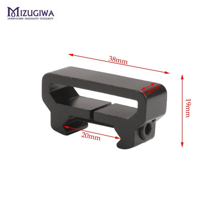 Hunting Tactical Black Tactical Rifle Aluminum Sling Swivel Hook Mount Attachment For 20mm Picatinny Weaver Rail Adapter