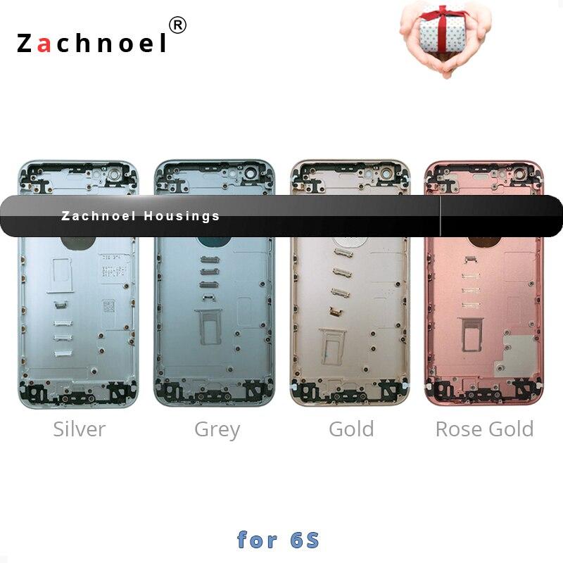 Zurück Gehäuse für iPhone 6 S Batterie Tür Abdeckung Fall Mittleren Rahmen Chassis Körper Ersatz Gold Schwarz Silber Kostenloser Benutzerdefinierte IMEI