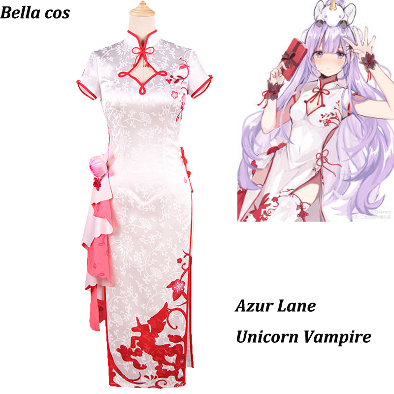 Azur Lane unicorn costume Vampire cheongsam Chinese Dress cosplay costumes