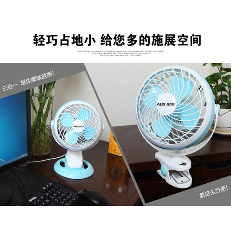 Mini dortoir étudiant électrique petit circulateur d'air usb grand vent ménage table silencieuse pince Ventilador table - 4