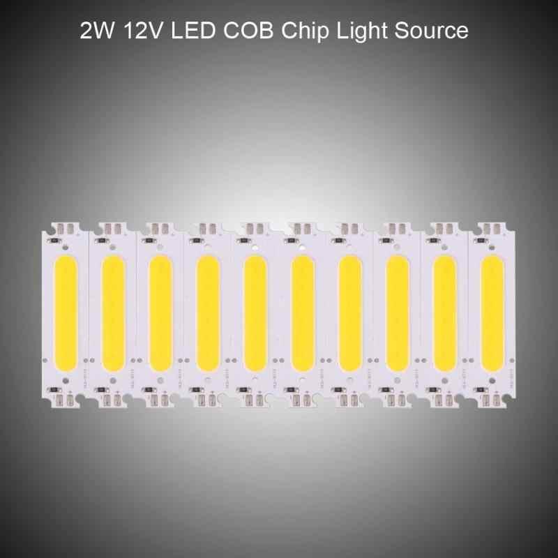 10 шт. 12 В 2 Вт COB чип источник света подходит COB лампа светодиодный модуль на микросхеме панель с лампочками для DIY светодиодные фары крепление для лампы
