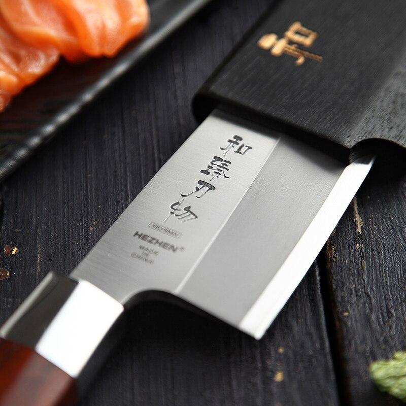 HEZHEN Japanischen Deba Messer X9Cr18MoV Lachs Sushi Sashimi Messer Edelstahl Küche Carving Küche Messer Thunfisch Schneiden Werkzeug-in Küchenmesser aus Heim und Garten bei  Gruppe 2
