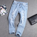 2015 New Ripped Jeans Women Plus Size Denim Pants Capris Trousers Casual Vintage Pencil Pants Harem Boyfriend Jeans for Women