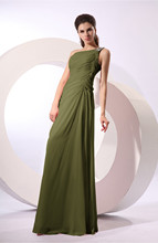 Fairytale A Line Zipper Floor Length Rhinestone Bridesmaid Dresses