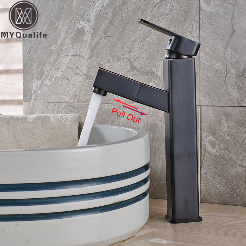 Modern Square Pull Out Washing Basin Faucet Single Handle Countertop Bathroom Washing Basin Mixers with Hot and Cold Water pastoralism and agriculture pennar basin india