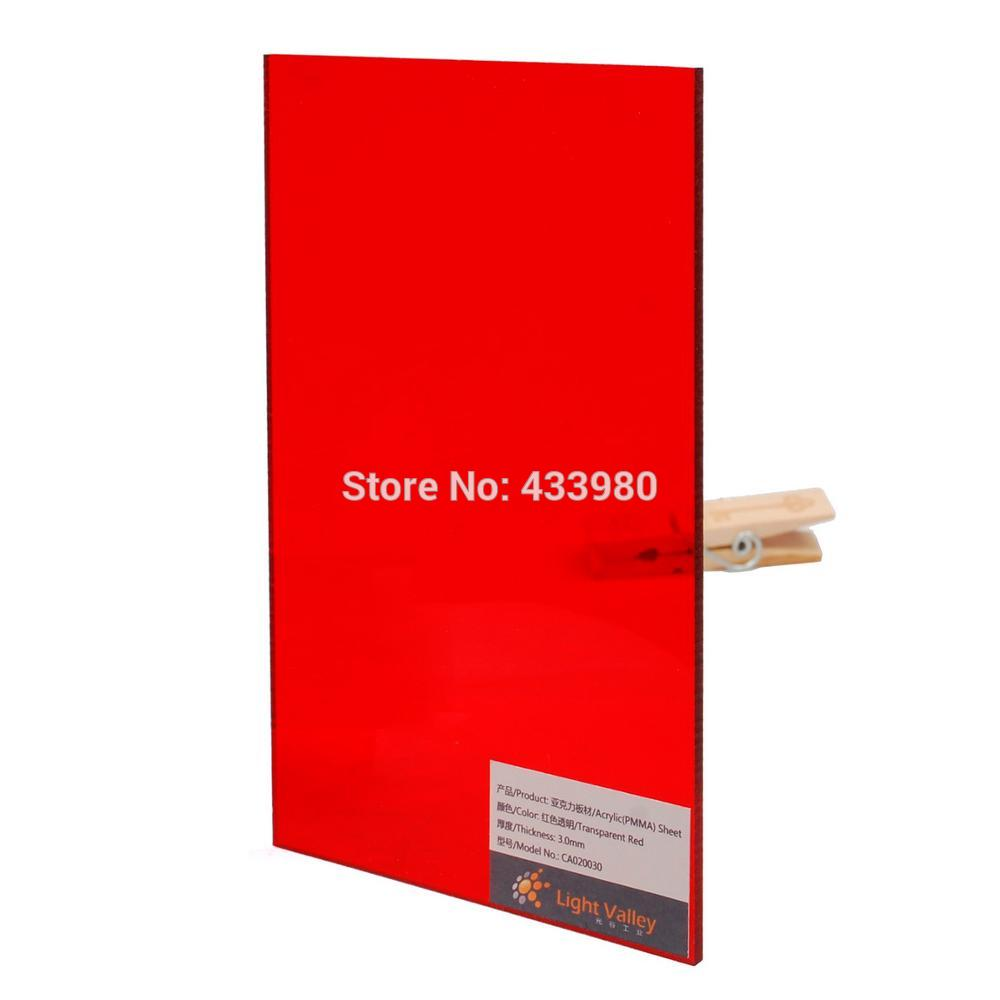 400mm x 300mm x 3 0mm Acrylic PMMA Tinted Color Sheets 3 pcs color