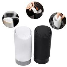 SPEEDWOW, 1 шт., автомобильный мусорный бак, автомобильный мусорный бак, силиконовый чехол для мусора, держатель для мусора, мусорное ведро, черный, белый цвет