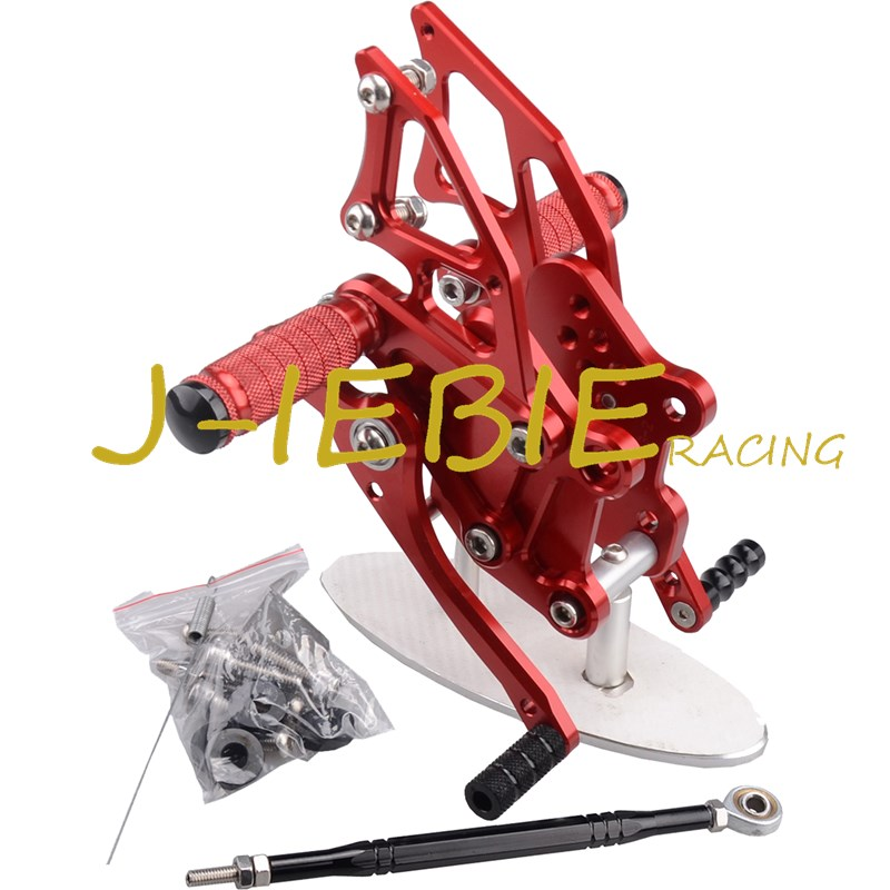 CNC Racing Rearset Adjustable Rear Sets Foot pegs Fit For Yamaha YZF R3 R25 2014 2015 RED