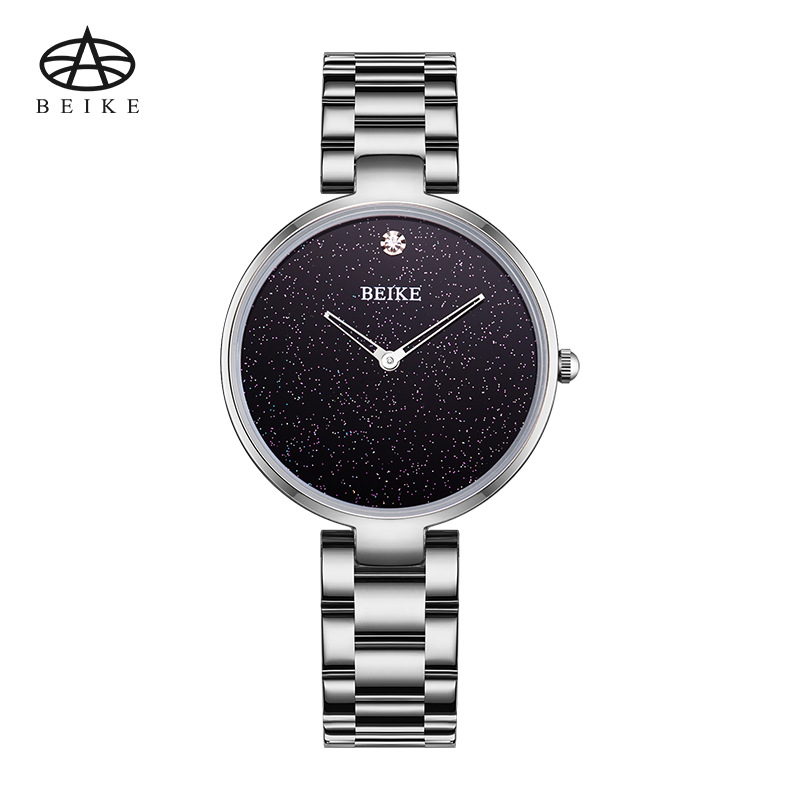 BEIKE Relogio Feminino Women Watches Luxury Famous Top Brand Ladies Fashion Casual Dress Watch Sliver Clock Quartz Wristwatches hot sales geneva brand silicone watches women ladies men fashion dress quartz wristwatches relogio feminino gv008