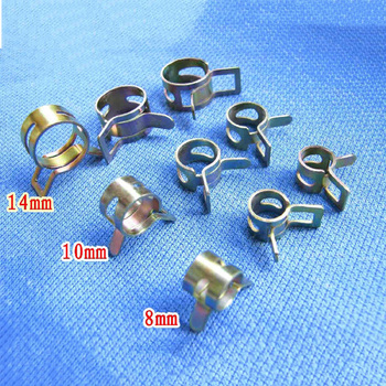 5Pcs 8mm 10mm 12mm 14mm Clutch Oil Hose Line Pipe Fuel Line Hose Water Pipe Air Tube Clamps Fastener image